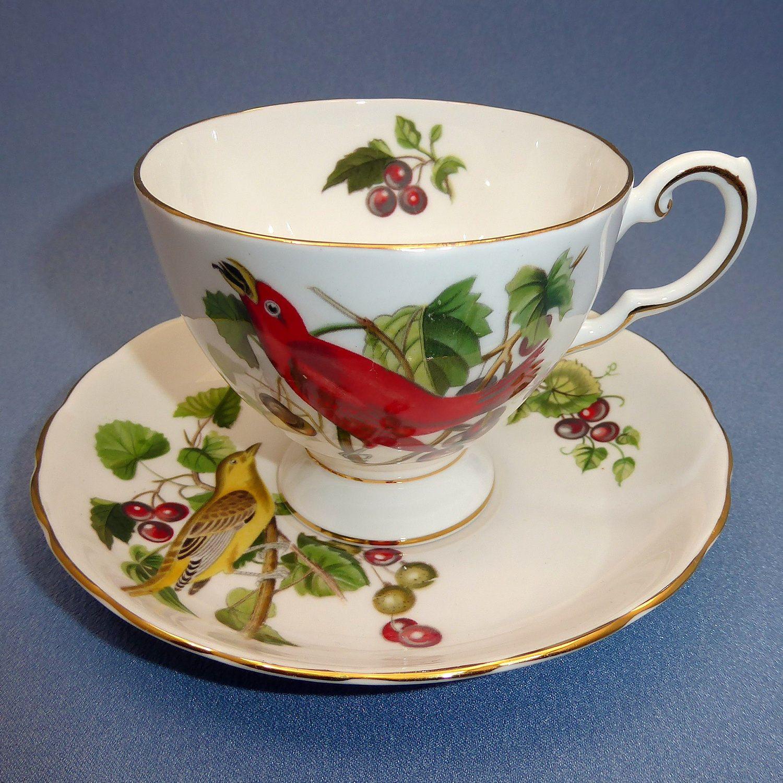 Royal albert bone china tea cup amp saucer winsome pattern ebay - Tuscan Audubon Birds Summer Tanager Tea Cup And Saucer Red Bird Tea Cup Tuscan Bone China England
