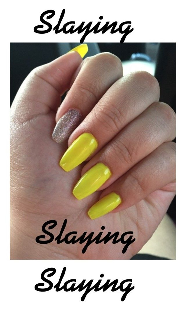 """My nails💅🏾"" by trill-girlforever ❤ liked on Polyvore featuring beauty"