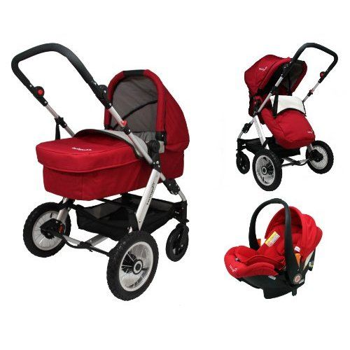 Twingo Classic 3 In 1 Full Travel System Red Baby Travel System Baby Strollers Pram Stroller