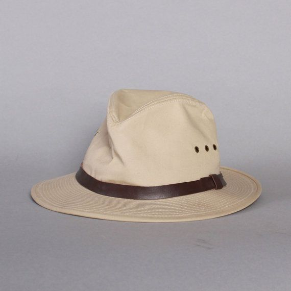 vintage 1980s authentic filson water repellent summer weight packer hat. d66d1b58783
