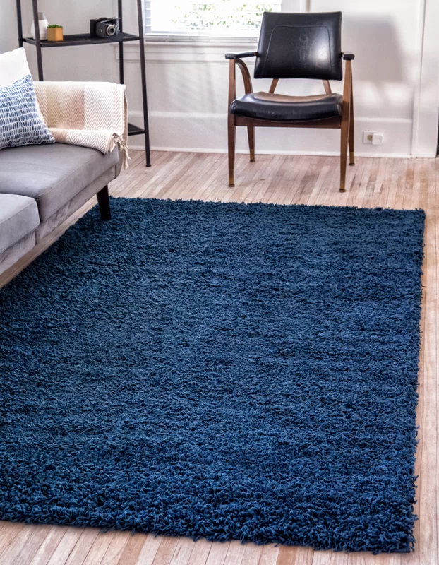 Falmouth Navy Blue Area Rug Joss Main In 2020 With Images Rugs In Living Room Dark Blue Rug Shag Rug