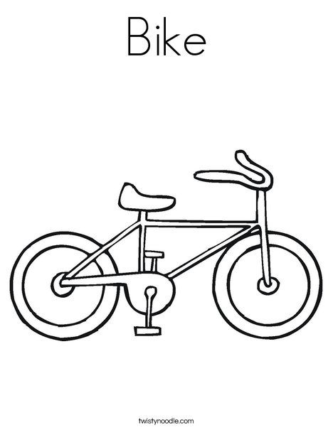 Bike Coloring Page Twisty Noodle Teacher Board Bicycle Crafts