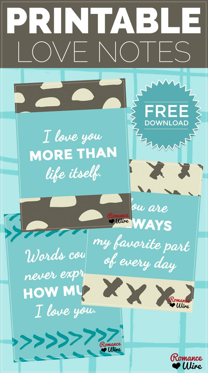printable love notes | free download | @romancewire | romantic ideas