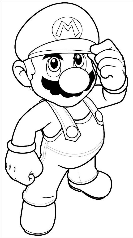 Mario Bros Coloring Pages Coloriage Coloriage Mario Dessin Coloriage