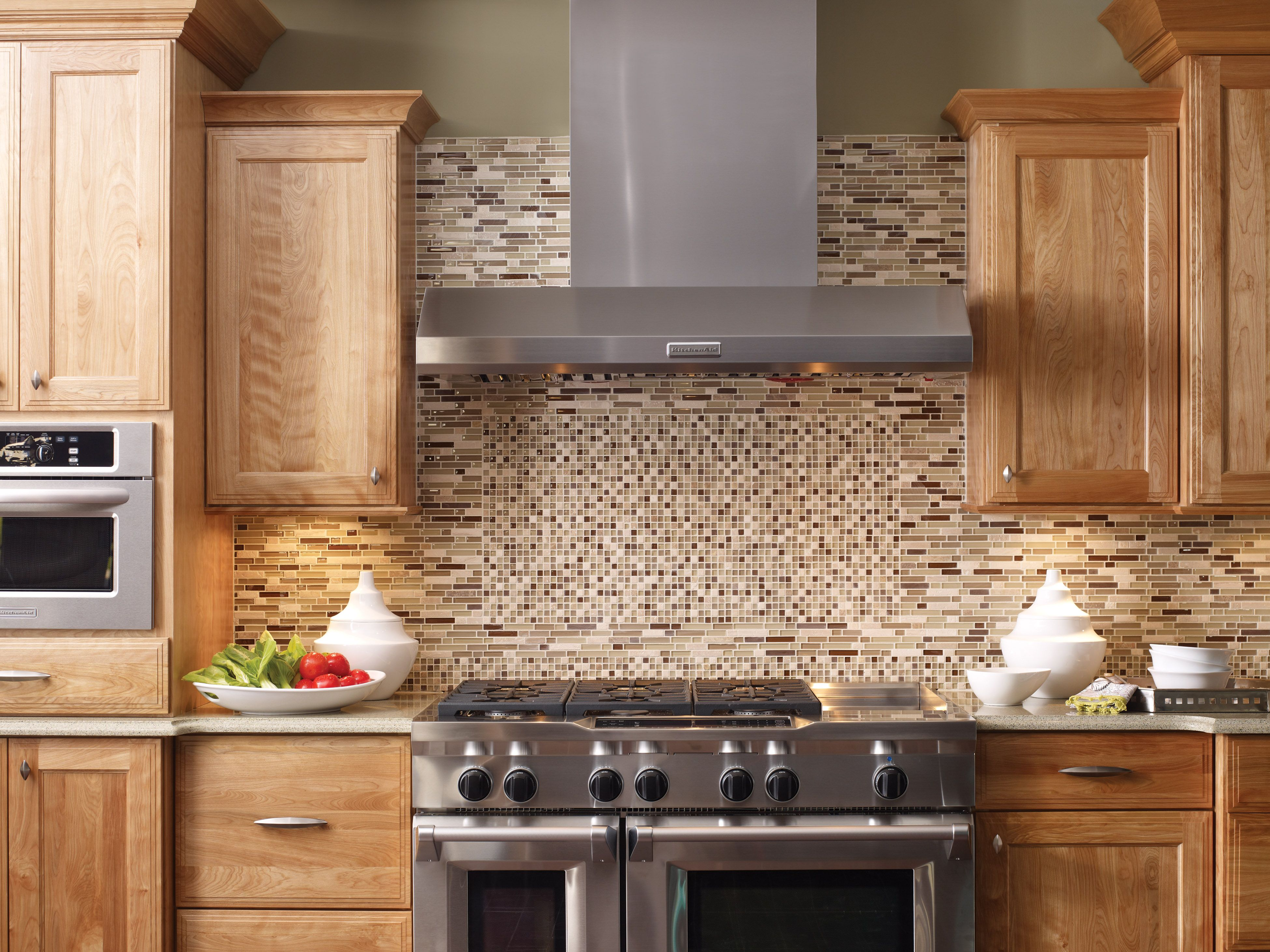 Glass stone mosaic kitchen backsplash photo marazzi pictures to pin on - Beautiful Glass Tile Backsplash From Mohawk Tile