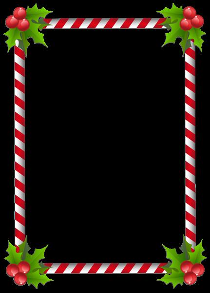 Christmas Transparent Classic Frame Border | Christmas ...