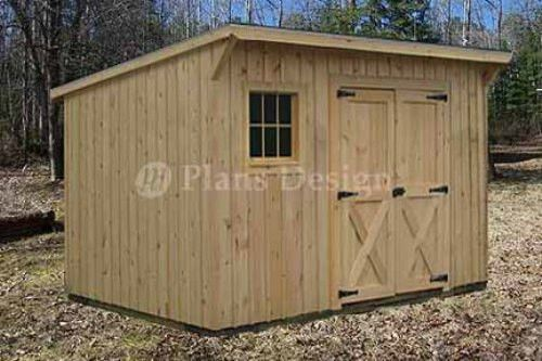 Details about 7' x 12' Modern Storage / Lean-To Garden Shed