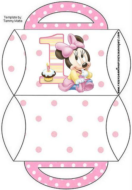 Cajitas Imprimibles de Minnie primer año.  Ideas para fiestas: Paps, ideas e imprimibles gratis OH MY FIESTA!