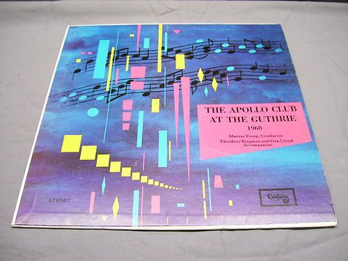 The Apollo Club at The Guthrire Murrae Freng Conductor 1968 Stereo Sound | eBay