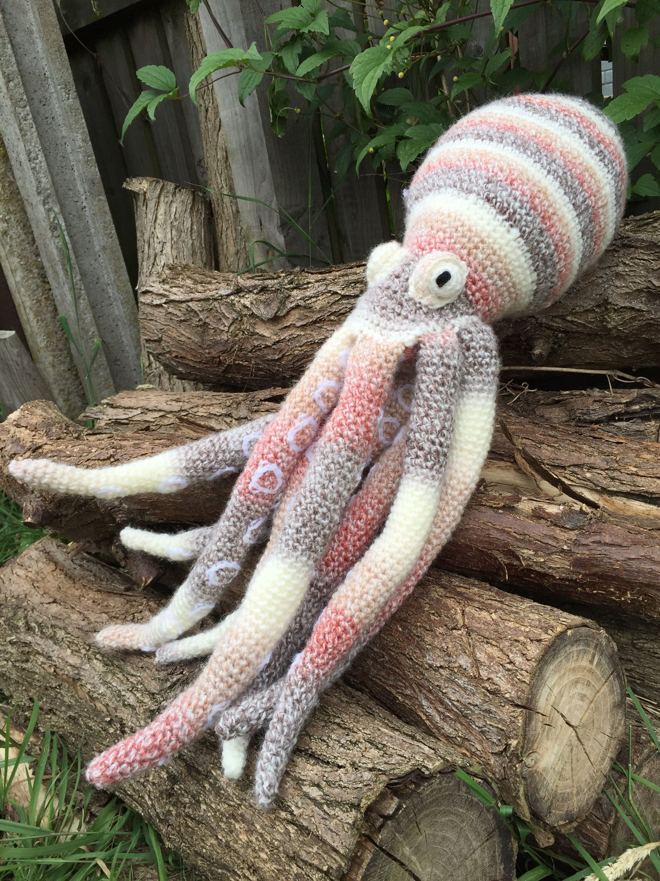 I have a feeling the sea is going to start getting a bit crowded with all these sea makes! Joining Sidney the squid is Oscar the crochet Octopus, designing this pattern was quite a challenge! #crochetoctopus