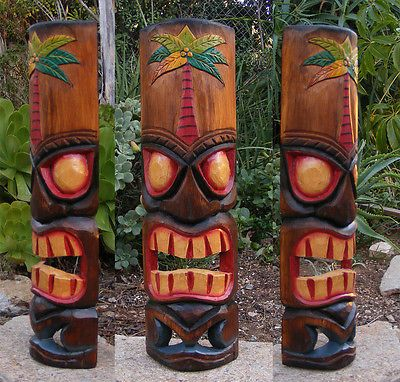 Wall Mask Decor Inspiration Hawaiian Palm Tree Tiki Wood Wall Mask Patio Tropical Bar Decor 20 Decorating Inspiration