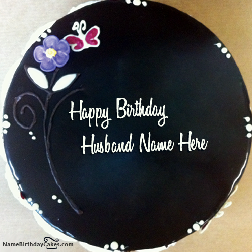 Write Name On Chocolate Birthday Cake For Hubby
