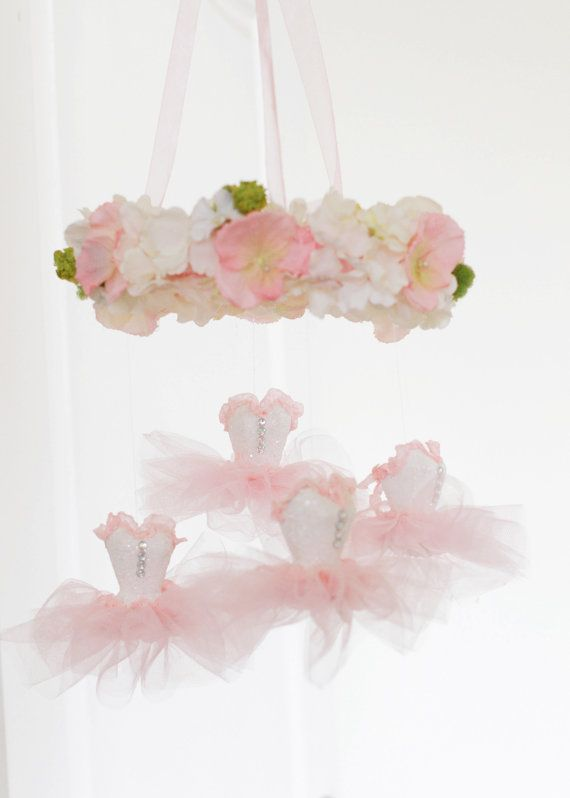 Ballerina Mobile Nursery Decor Baby By Mypaperromance