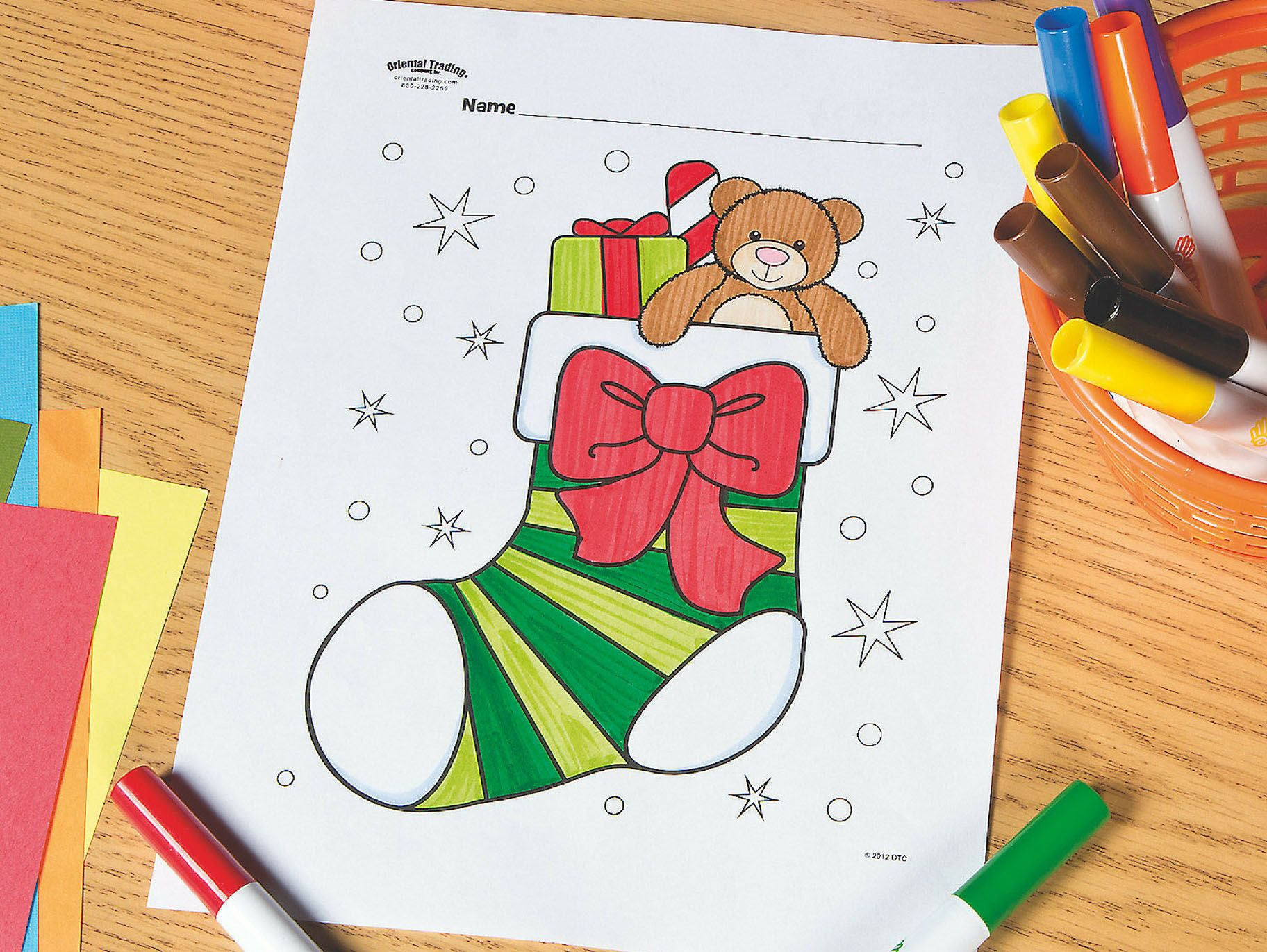 Christmas Stocking Coloring Pages To Print Colouring