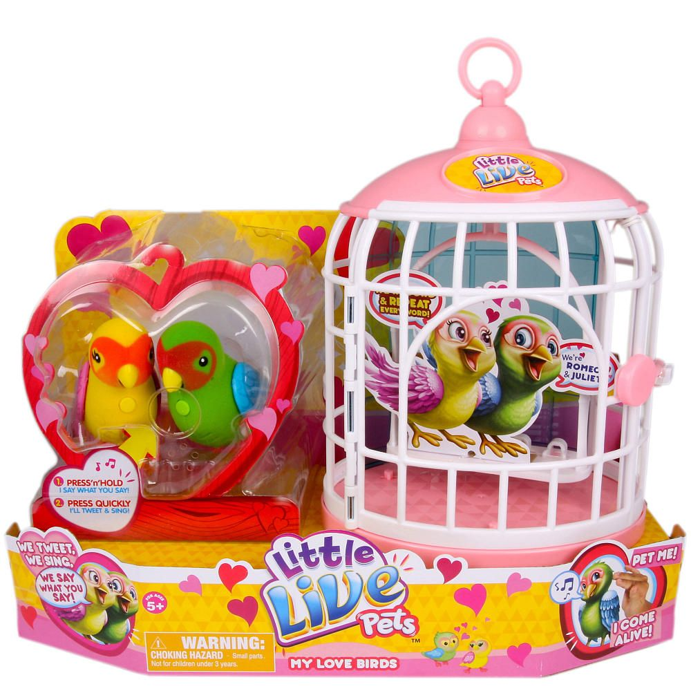 Little Live Pets Bird Cage Love Birds Double Pack Moose