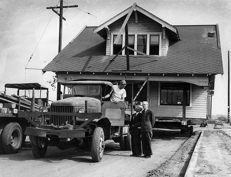 House moving (1960s) Los ángeles, Moños