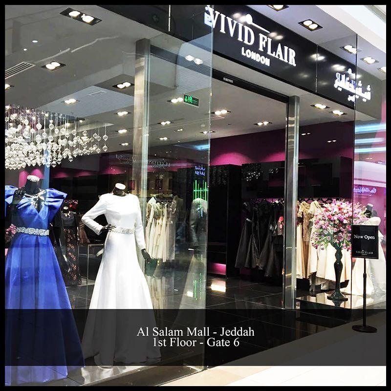 Now Open Vivid Flair New Boutique Al Salam Mall Jeddah First Floor Gate 6 Formal Dresses White Formal Dress Dresses