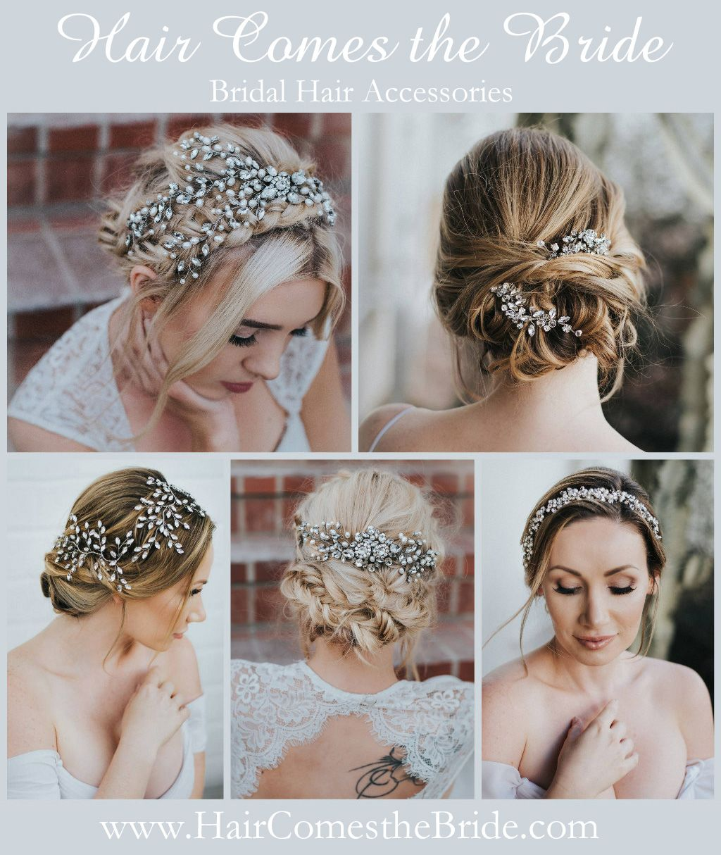 designer bridal hair accessories including a beautiful