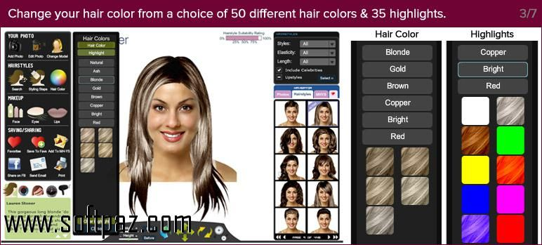 Hi Fellow Windows User You Can Download Virtual Hairstyle Fab For Free From Softpaz Https W Virtual Hairstyles Hair Color Highlights Different Hair Colors