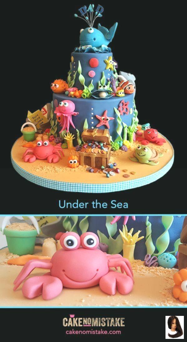 Wondrous Pin By Wendy Lunn On Cakes Ocean Cakes Ocean Birthday Cakes Personalised Birthday Cards Sponlily Jamesorg