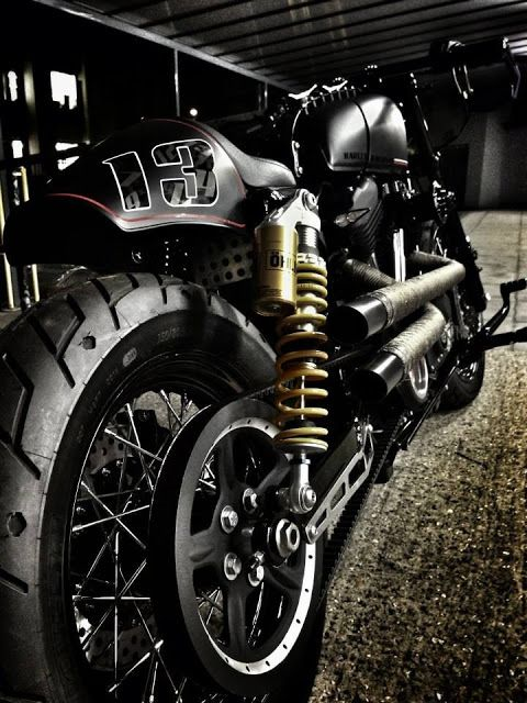 Harley Davidson Sportster Cafe Racer by RB Kustoms #motorcycles #caferacer #motos   caferacerpasion.com