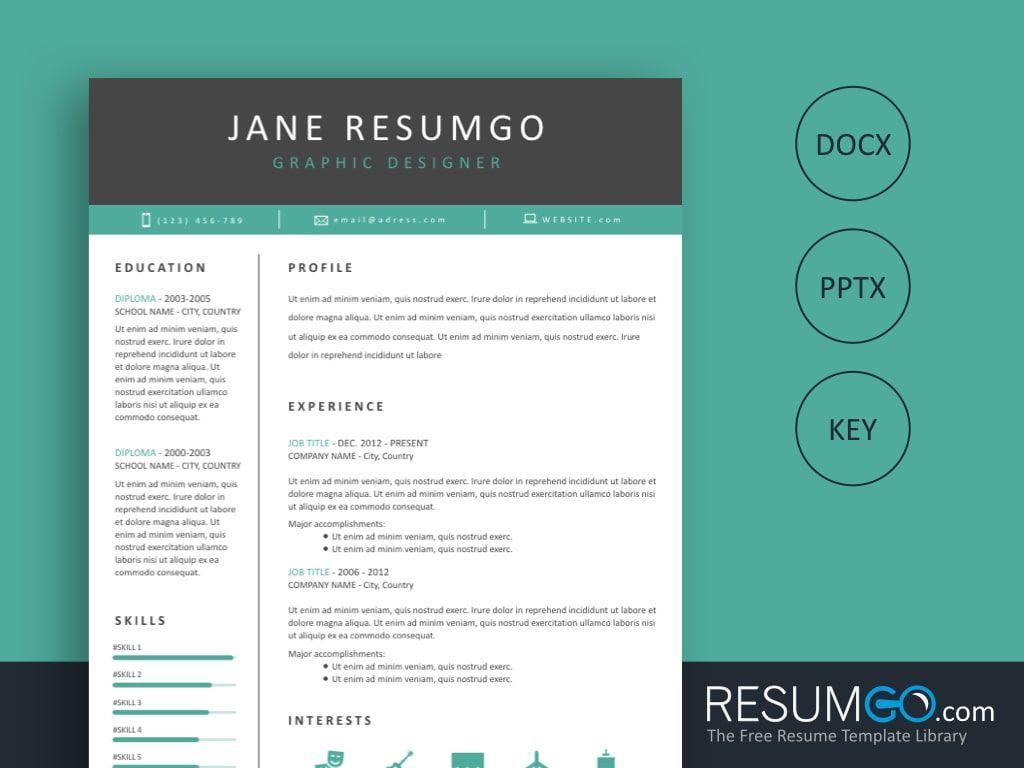 Tanis free professional resume template resumgo
