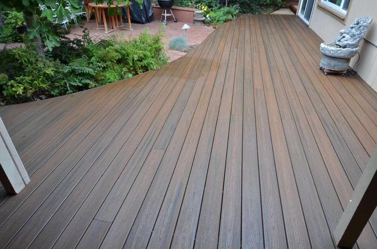 Small Deck To Patio Transition