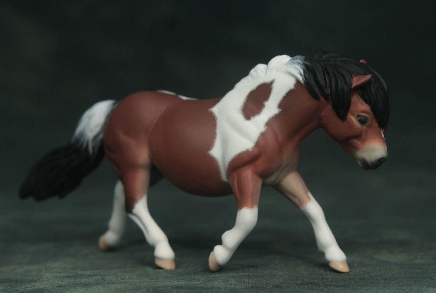 Breyer SM G2 Shetland Pony; customized by Marcy Osedo; painted by Jaime Baker