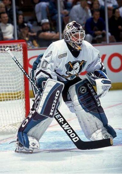 Anaheim Mighty Ducks Goaltending History Dominic Roussel Anaheim Ducks Nhl Hockey Goalie