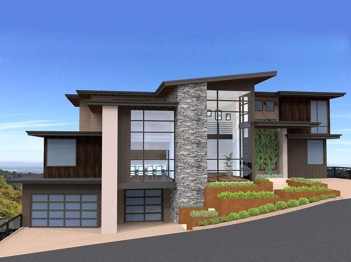 Plan 85152MS Exclusive and Unique Modern House Plan