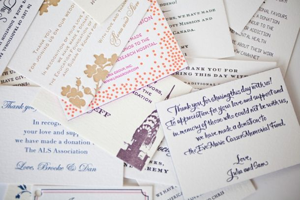 Charity Wedding Favours