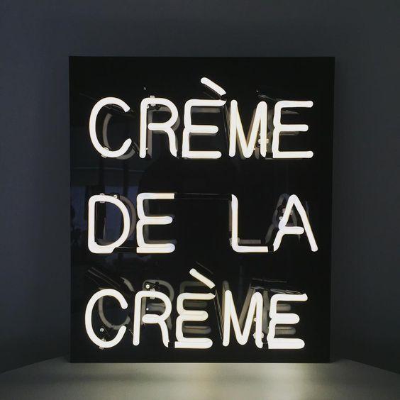 Nice Neon U201cCrème De La Crèmeu201d | Storehouse Home Decor
