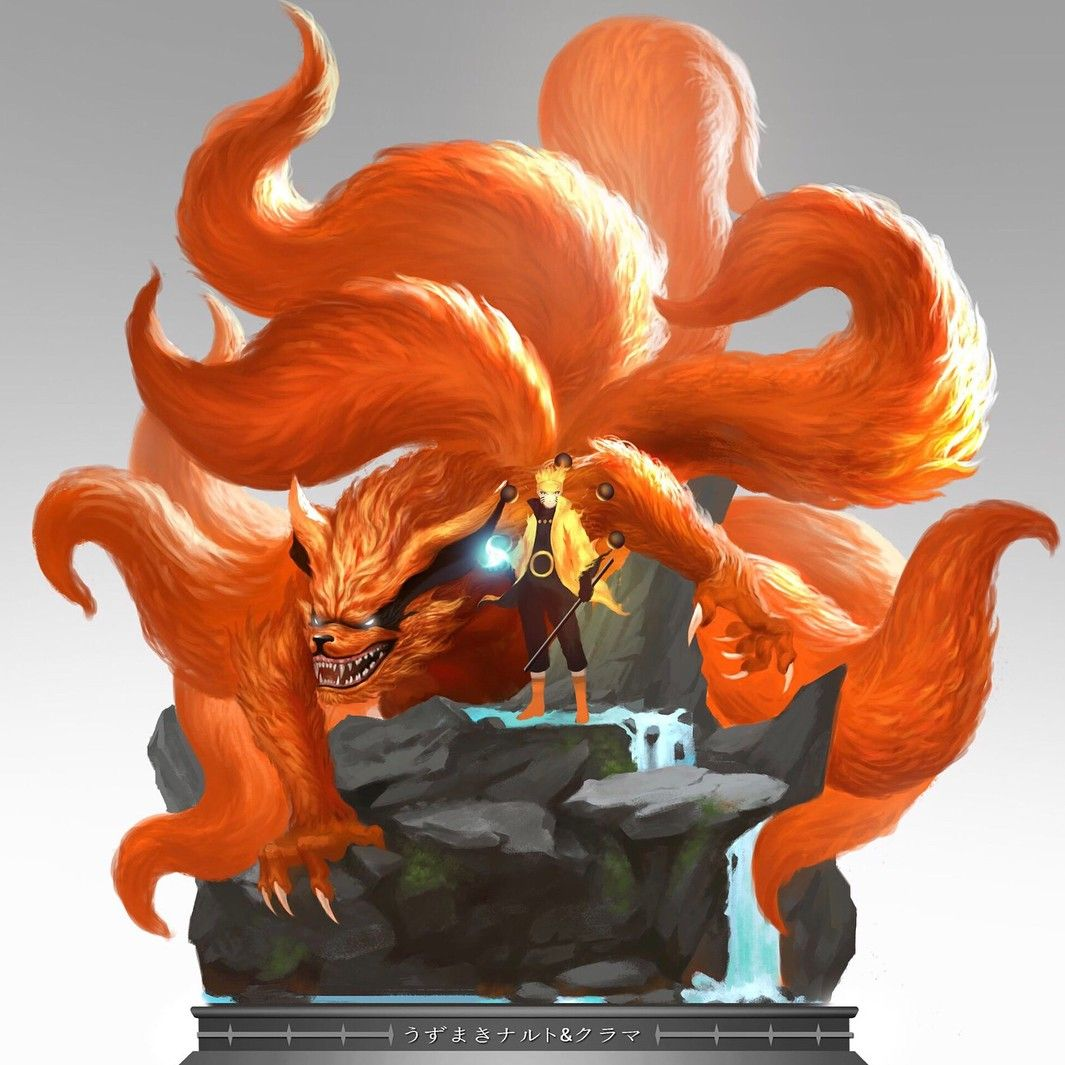 Kurama X Naruto Figure By Timoon Workshop