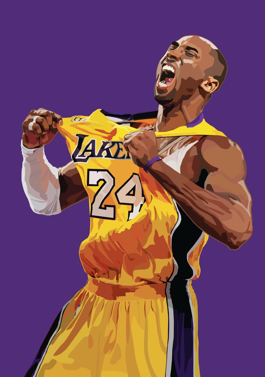 Animated Kobe Bryant Wallpaper : animated, bryant, wallpaper, Illustrations, Behance, Bryant, Pictures,, Poster,, Wallpaper