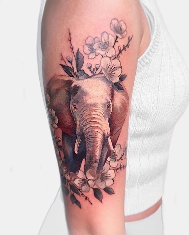 a13e1a867 75 Big And Small Elephant Tattoo Ideas | Tatts | Elephant tattoos ...