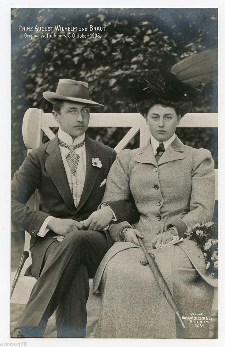 Prinz August Wilhelm von Preussen und seine Braut ...