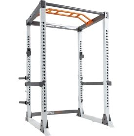 Go for your next squat PR or perform a variety of bodyweight movements with the Fitness Gear® Pro Full Rack-the quintessential strength training station.