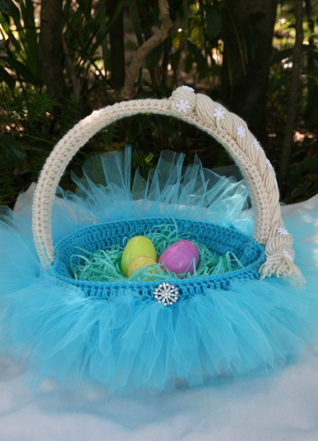 Elsa-themed Halloween or Easter Basket by NerdyNeedleNotions ...