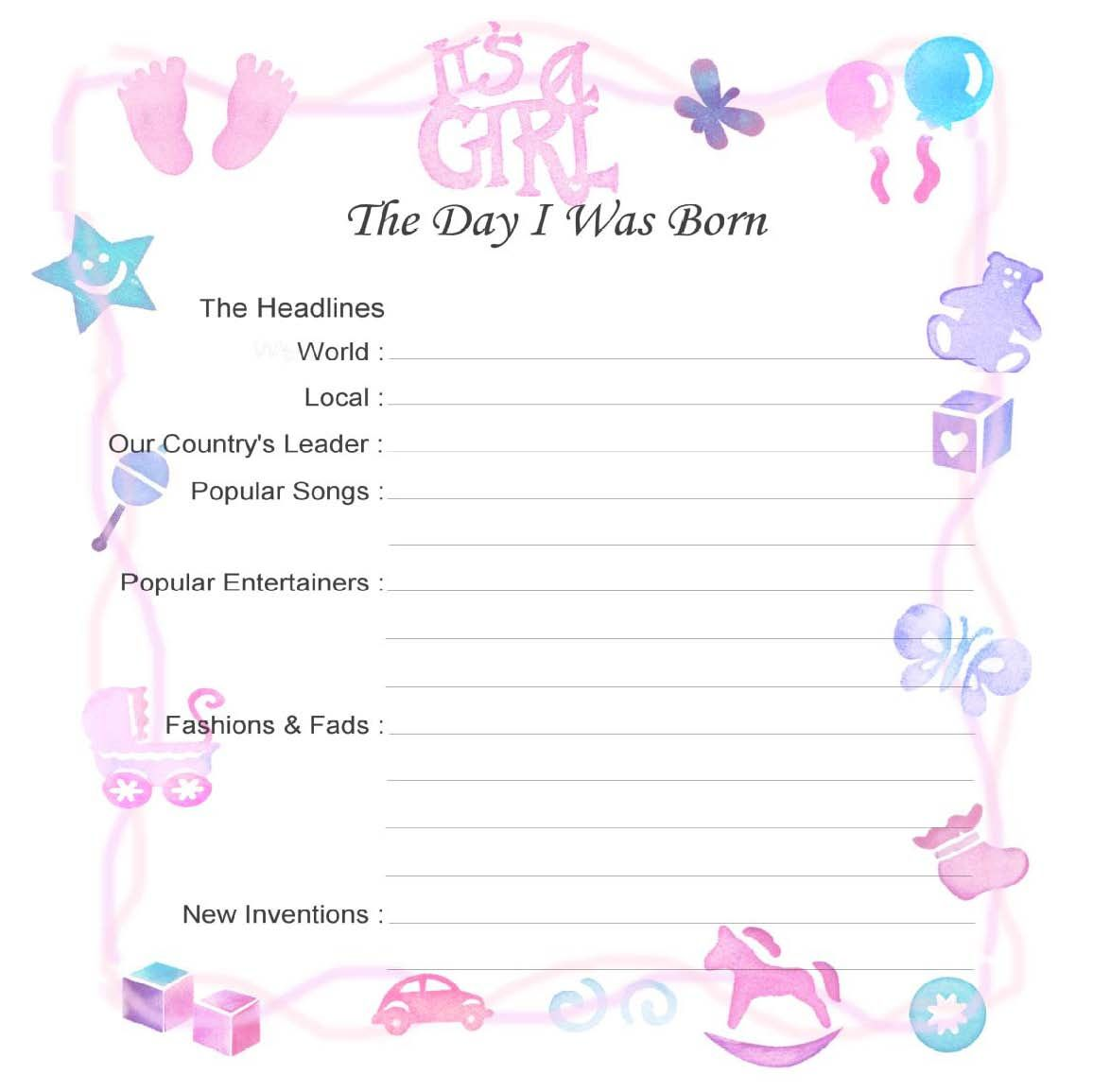 Baby Book Template. 25 best ideas about baby book pages on ...