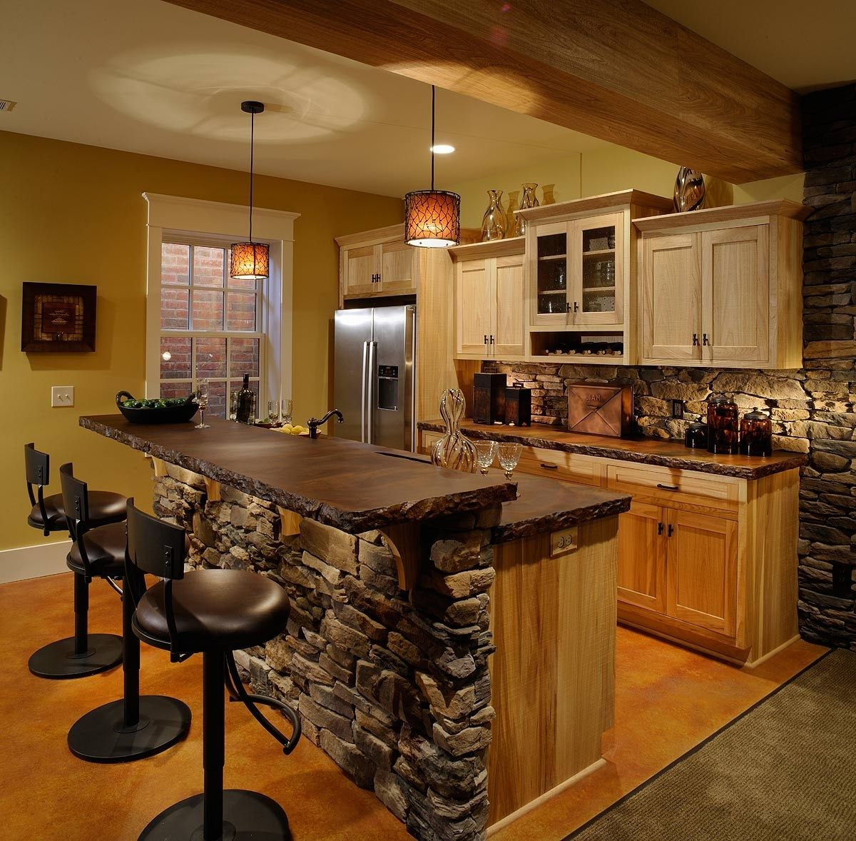 Stylish Small Basement Kitchen Bar Ideas 6511 Downlines Co Small Rustic Kitchens Country Kitchen Designs Rustic Kitchen Design