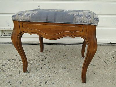 Ethan Allen Country French Foot Stool Ottoman Bench Legacy