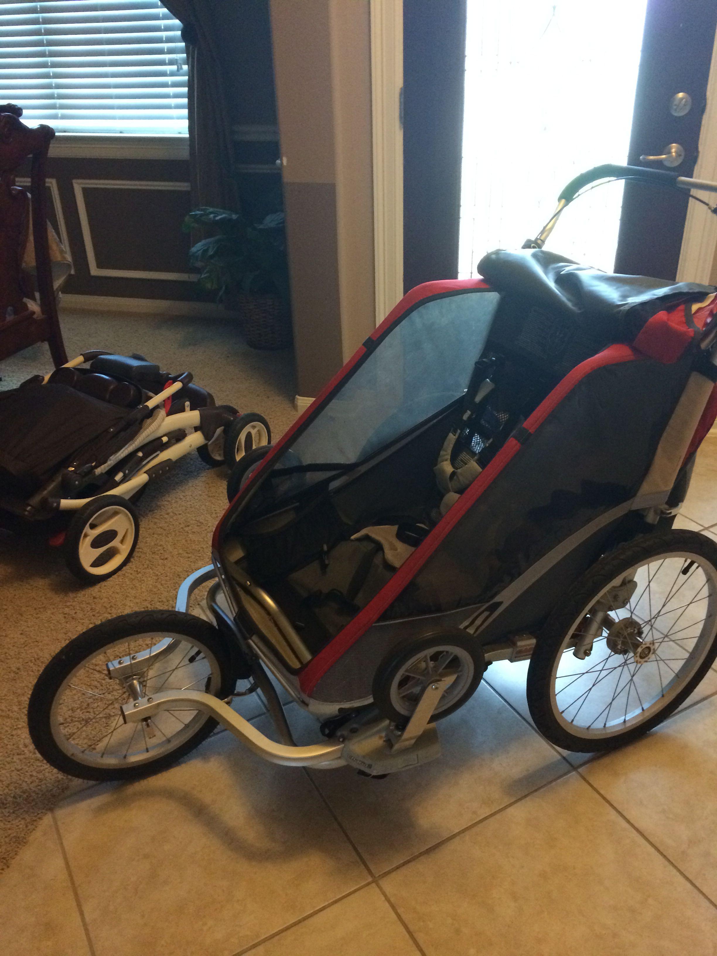 Double jogging stroller. 600 + attachments (infant sling