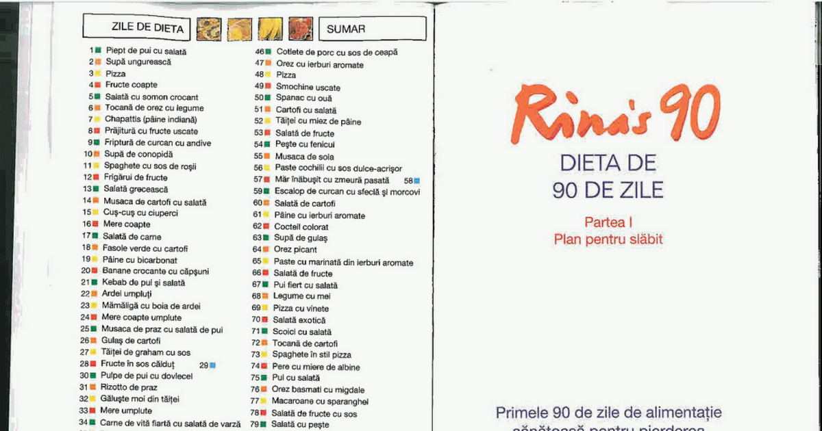 ricette di perdita di peso alimentare pdf