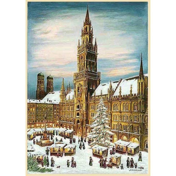 1 Advent Weihnachtsmarkt.Munich Christmas Market Advent Calendar Germany 14 3 4 X 10 1 4