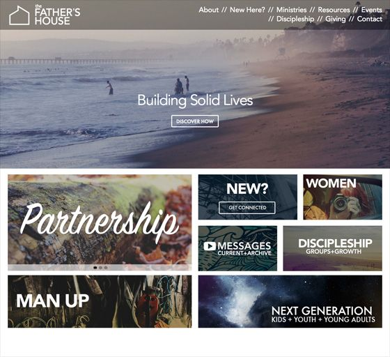 Featured Website The Father S House Church Church Website Design Church Graphics Church Websites