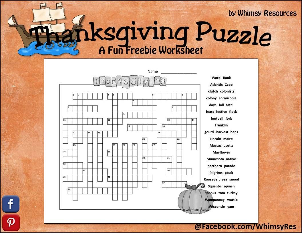 Download This Thanksgiving Freebie That Includes A Fun