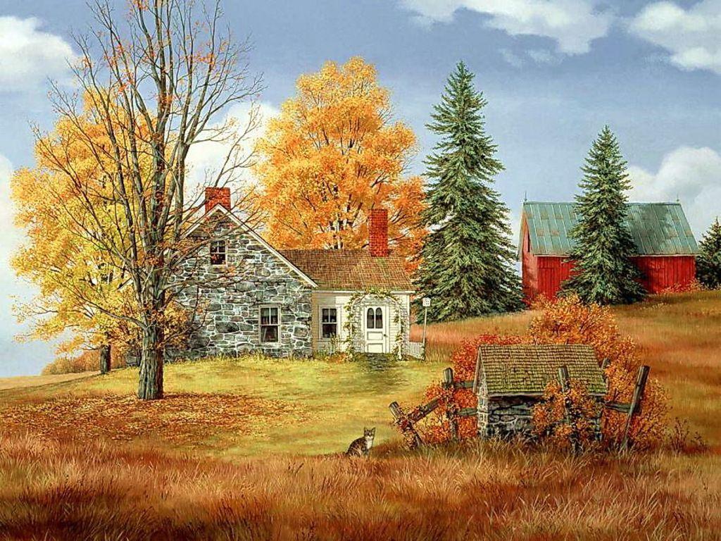 Fall scenes with pumpkins free autumn farm wallpaper - Pics of fall scenes ...