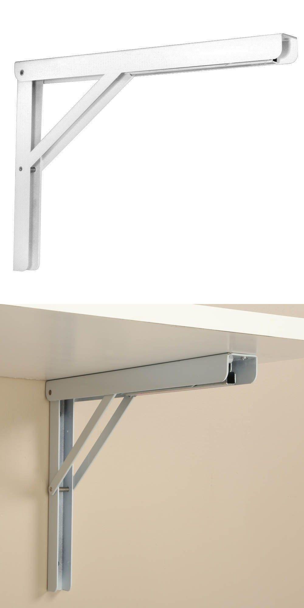 Braces And Brackets 45816 16 In Heavy Duty Folding Shelf Bracket In White Buy It Now Only 36 59 On Ebay Arsitektur Meja