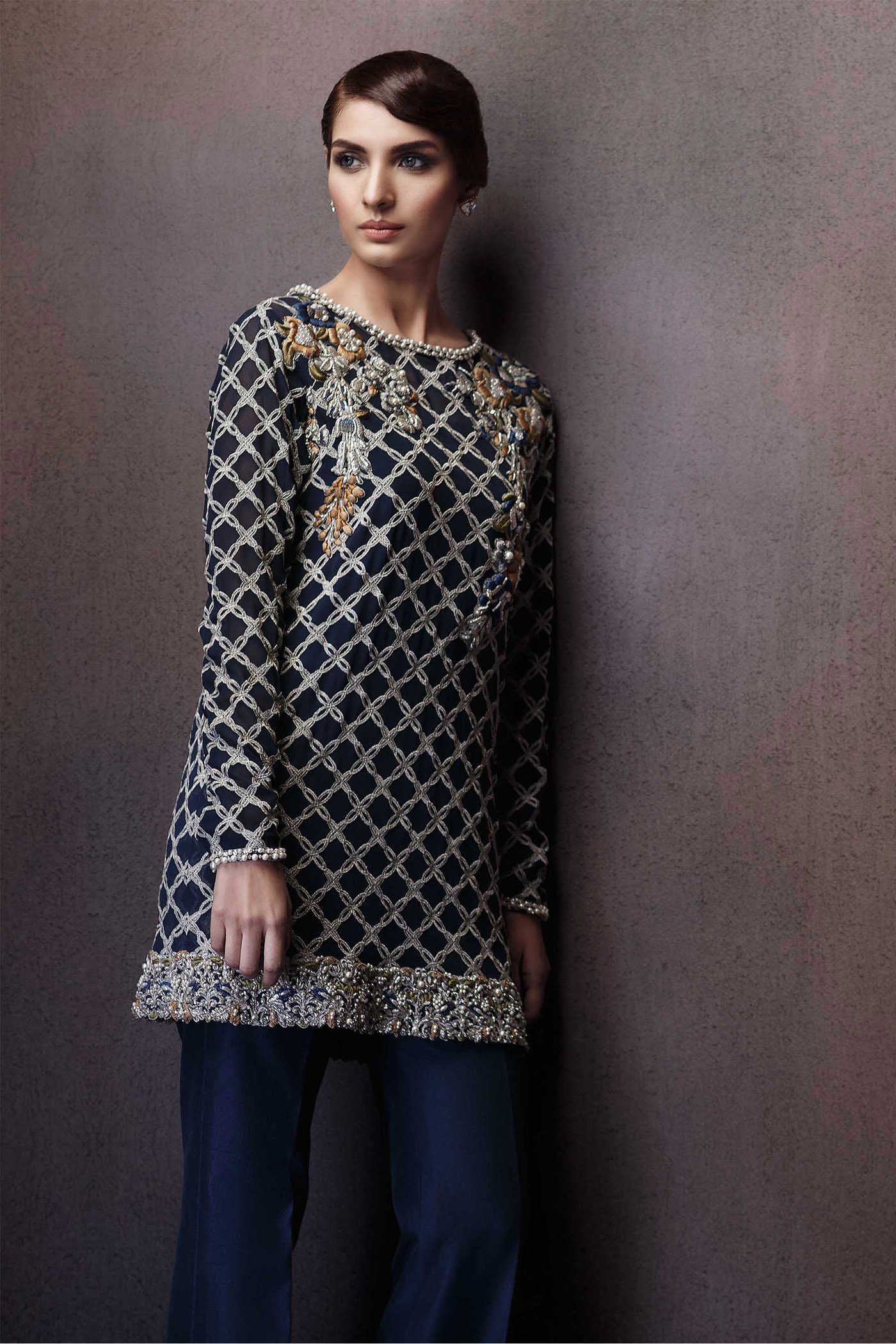 1a30f8b771a Pakistani Party Wear Embroidered Shirts 2019-2020 Latest Designs ...