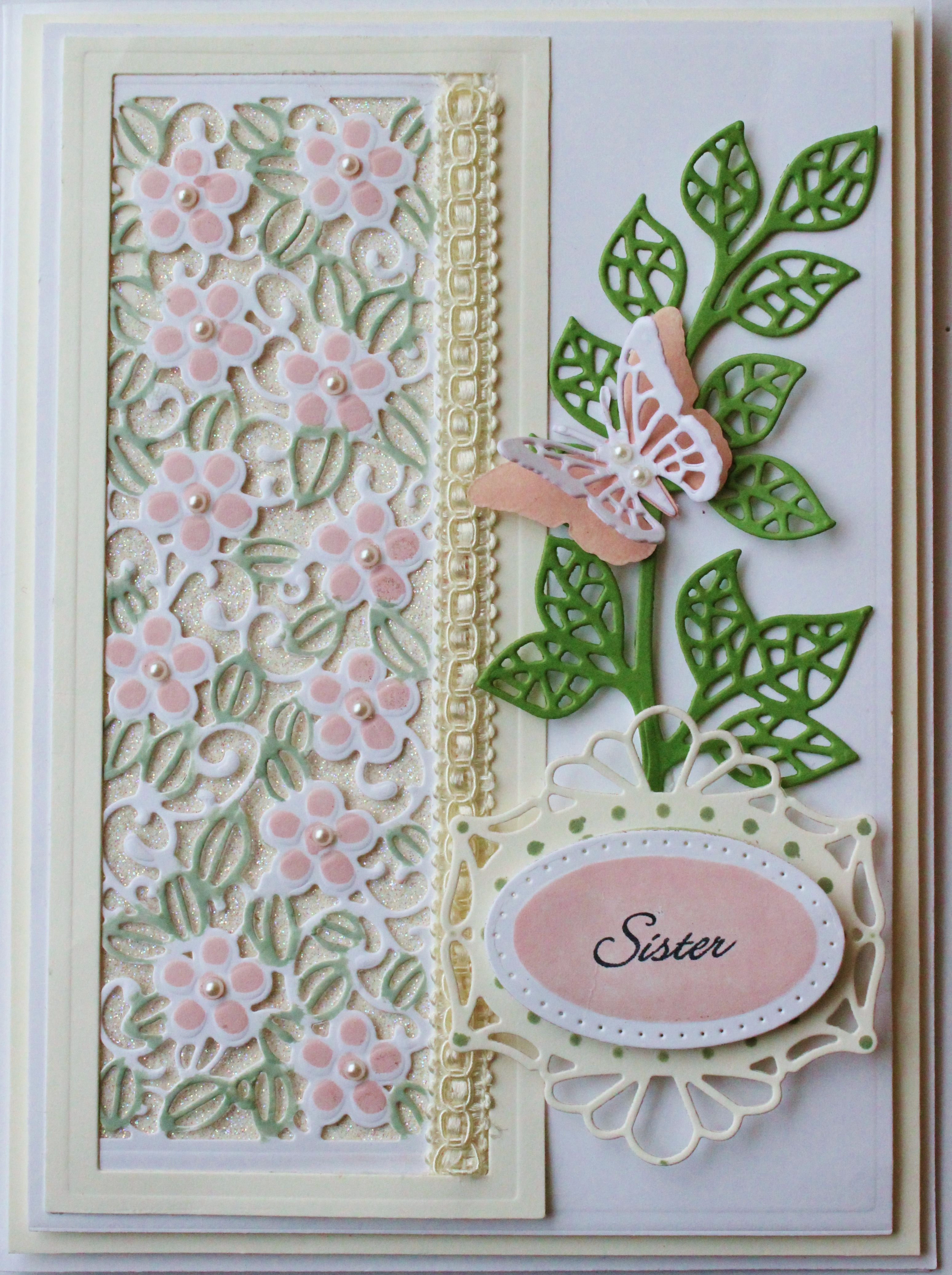 Birthday Card For Sister Design And Products By Sue Wilson Designs